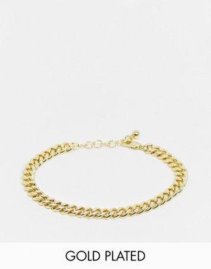 Браслет-цепочка с позолотой из 18-каратного золота Pieces