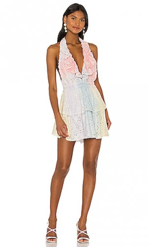 Платье carlisle LoveShackFancy. Цвет: розовый