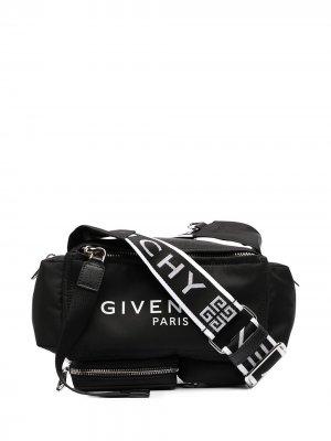 Сумка на плечо с логотипом Givenchy. Цвет: черный