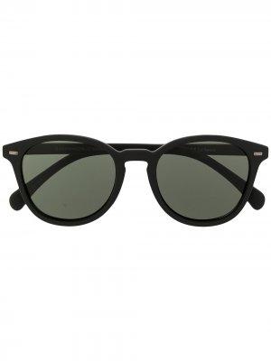 Солнцезащитные очки Bandwagon в круглой оправе Le Specs. Цвет: черный