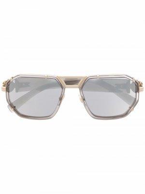 Солнцезащитные очки VE2228 с декором Medusa Versace Eyewear. Цвет: серый