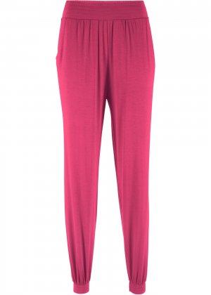 Трикотажные брюки-шаровары bonprix. Цвет: ярко-розовый