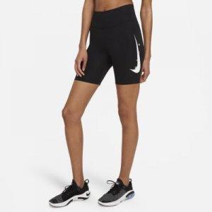 Женские беговые тайтсы Swoosh Run 18 см - Черный Nike
