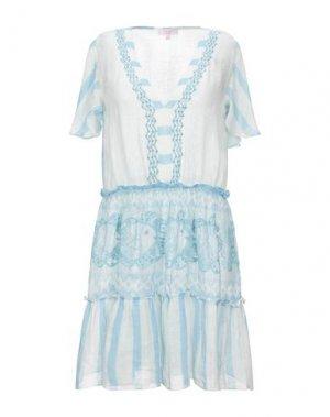 Короткое платье PIN UP STARS. Цвет: небесно-голубой