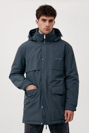 Пальто мужское Finn-Flare. Цвет: темно-зеленый