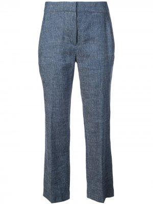 Укороченные брюки строгого кроя Elie Tahari. Цвет: синий