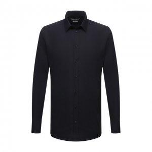 Хлопковая сорочка Dolce & Gabbana. Цвет: синий