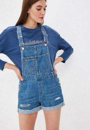 Комбинезон джинсовый Sela. Цвет: голубой