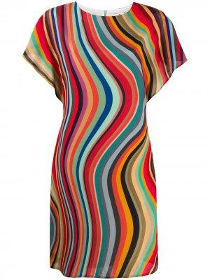 Платье с принтом PS Paul Smith. Цвет: красный