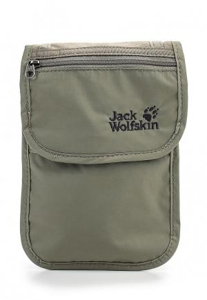 Сумка Jack Wolfskin PASSPORT BREAST POUCH. Цвет: хаки
