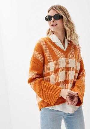 Пуловер Selected Femme. Цвет: оранжевый