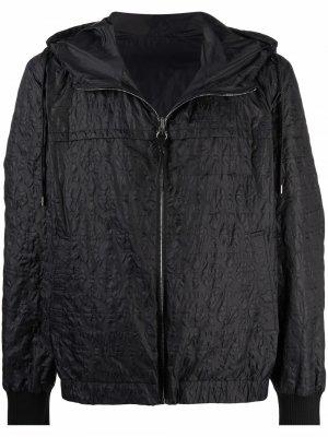 Куртка с узором Gancini и капюшоном Salvatore Ferragamo. Цвет: черный