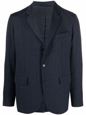 Однобортный пиджак с заостренными лацканами Aspesi. Цвет: синий