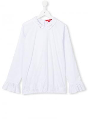 Рубашка с декорированным воротником Loredana. Цвет: белый