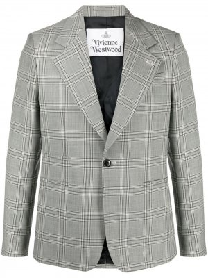 Однобортный пиджак в клетку Vivienne Westwood. Цвет: серый