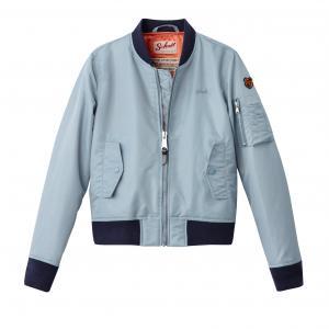 Куртка-бомбер JKT AC-W SCHOTT. Цвет: бирюзовый,небесно-голубой
