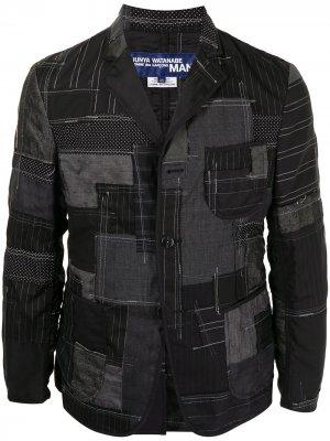 Строгий пиджак в технике пэчворк Junya Watanabe MAN. Цвет: черный
