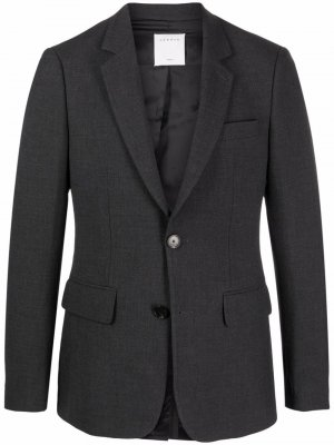 Однобортный пиджак строгого кроя Sandro Paris. Цвет: серый