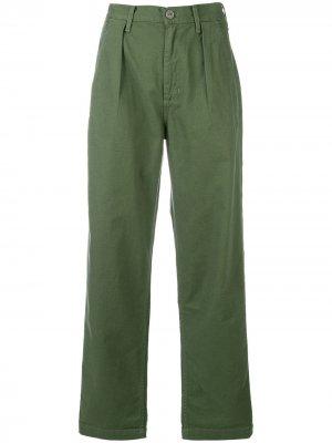 Укороченные джинсы свободного кроя Citizens of Humanity. Цвет: зеленый
