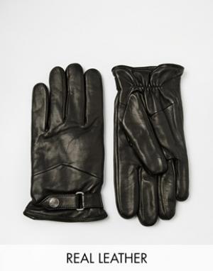 Кожаные перчатки Nano Classic Royal RepubliQ. Цвет: черный