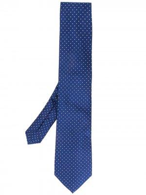 Жаккардовый галстук в горох Etro. Цвет: синий