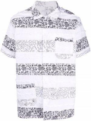Рубашка в технике пэчворк Engineered Garments. Цвет: белый