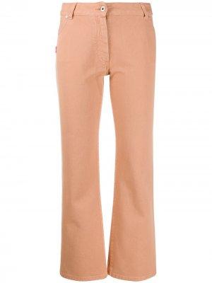 Укороченные джинсы с вышивкой Off-White. Цвет: розовый