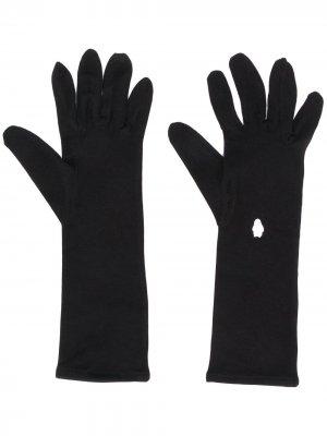 Перчатки с вышивкой Styland. Цвет: черный