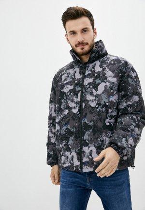 Куртка утепленная Marcelo Burlon County of Milan. Цвет: серый