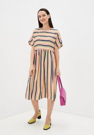 Платье Belucci. Цвет: разноцветный