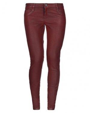 Джинсовые брюки BLEULAB. Цвет: кирпично-красный