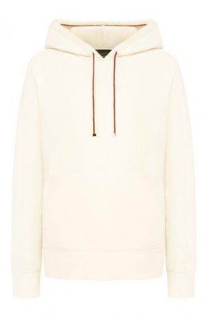 Кашемировый пуловер с капюшоном Loro Piana. Цвет: бежевый