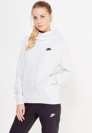 Худи Nike Womens Sportswear Funnel-Neck Hoodie. Цвет: серый