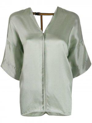 Расклешенная блузка с короткими рукавами A.F.Vandevorst. Цвет: зеленый
