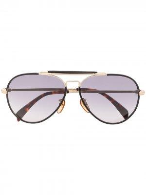 Солнцезащитные очки-авиаторы 7003/S Eyewear by David Beckham. Цвет: черный