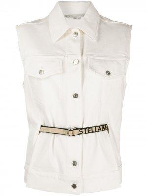 Джинсовая куртка без рукавов Stella McCartney. Цвет: белый