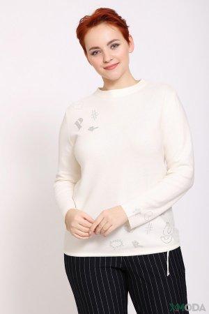 Пуловер Rabe collection. Цвет: белый
