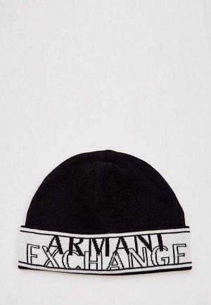Шапка Armani Exchange. Цвет: черный