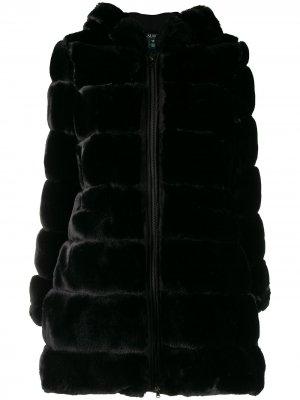 Пальто на молнии с капюшоном Lauren Ralph. Цвет: черный