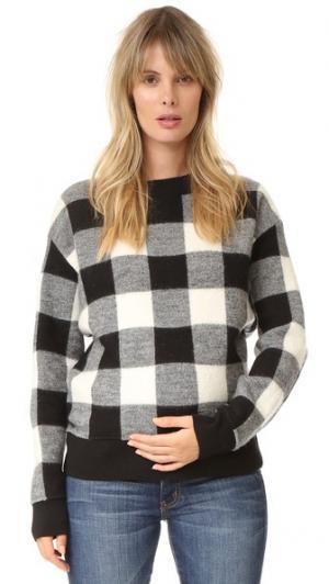 Пуловер Louisa HATCH. Цвет: черный/белая клетка