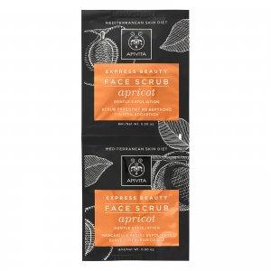Скраб для мягкого очищения кожи лица с экстрактом абрикоса APIVITA Express Face Scrub for Gentle Exfoliation — Apricot 2x8 мл
