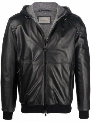Zipped biker jacket Corneliani. Цвет: черный