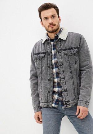 Куртка джинсовая Only & Sons. Цвет: серый