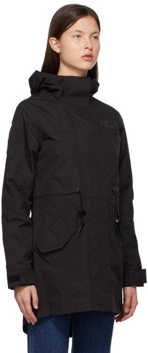 Black Metroview Trench Coat The North Face. Цвет: jk3 black