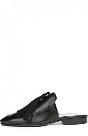 Кожаные мюли с кисточками Edun. Цвет: черный