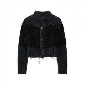 Джинсовая куртка GRLFRND. Цвет: чёрный