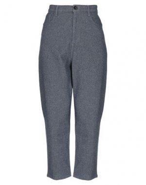 Повседневные брюки CARE LABEL. Цвет: грифельно-синий