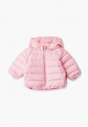 Пуховик adidas Originals RD JACKET. Цвет: розовый