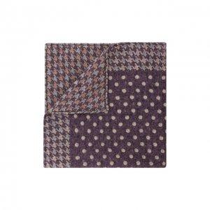 Шерстяной платок Brunello Cucinelli. Цвет: фиолетовый