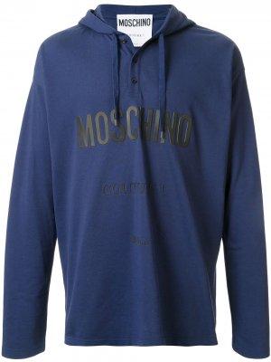 Худи с логотипом Couture Moschino. Цвет: синий